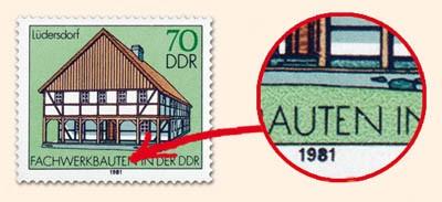 DDR MiNr. 2628 PF II ** Fachwerkbauten