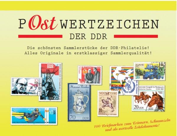 P-Ostwertzeichen der DDR 100 Sondermarken in Sätzen