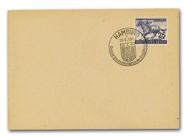 Dt. Reich MiNr. 814 auf Brief Deutschland-Preis der Dreijährigen
