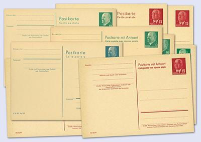 DDR Postkarten-Ganzsachen Set