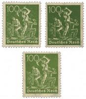 Dt. Reich MiNr. 187 a,b,c ** Bergarbeiter Farben-Set: a,(b u. c gepr.)