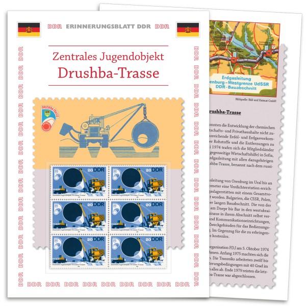 DDR Erinnerungsblatt EB04 - Drushba Trasse