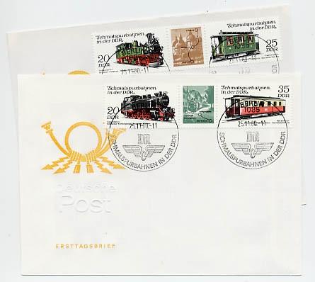 DDR FDC MiNr. 2562/65 Zdr. Schmalspurbahnen (I)