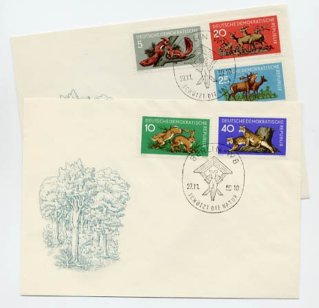DDR FDC MiNr. 737/41 Waldtiere