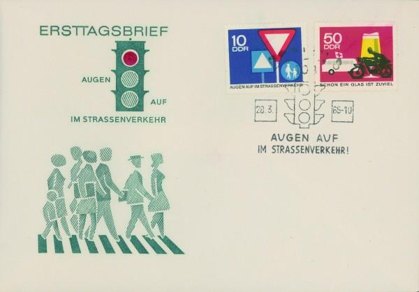 DDR FDC MiNr. 1169/72 Sicherheit im Straßenverkehr I