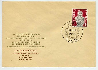 Berlin FDC Mi-Nr. 119 10. Jahrestag Attentat vom 20.Juli 1944