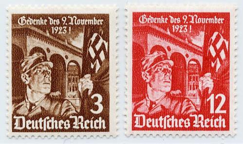 Dt. Reich MiNr. 598/99x ** 12.Jahrestag des Hitlerputsches