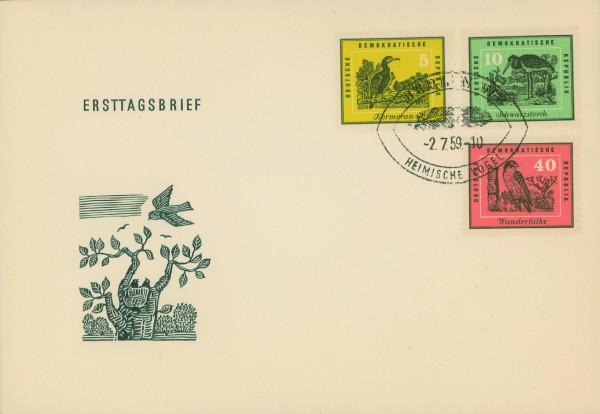 DDR FDC MiNr. 698/703 Heimische Vögel