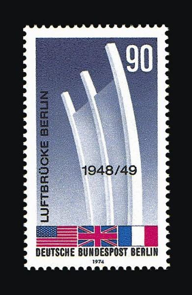Berlin MiNr. 466 ** 25.Jahrestag Beendigung der Blockade1974