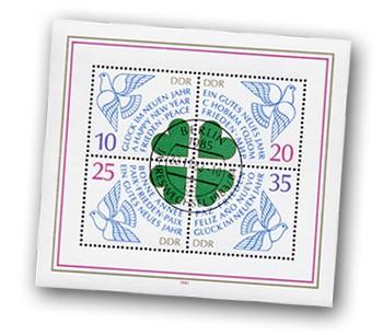 DDR Bl. 75 o MiNr. 2844/47 Neujahr 1984