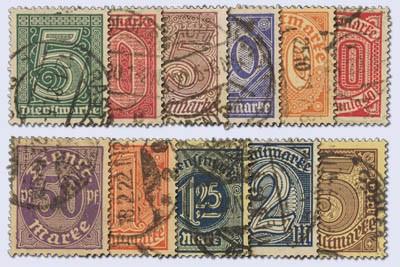Dt. Reich Dienst MiNr. 23/33 o gepr. Dienstmarken für alle Länder