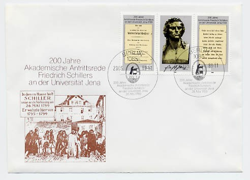DDR FDC MiNr. 3254/55 Zdr. Antrittsrede Schillers