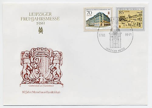 DDR FDC MiNr. 3235/36 LFM 1989
