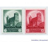 Dt. Reich MiNr. 546/47 gestempelt 6. Nürnberger Parteitag