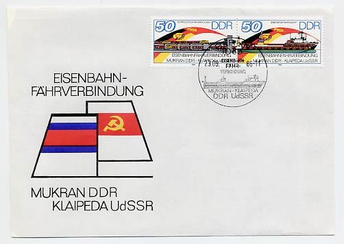 DDR FDC MiNr. 3052/53 Zdr. Fährverbind. Mukran-Klaipeda