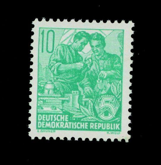 "DDR MiNr. 409x YI ** 10Pf ""Arbeiter"" Fünfjahrplan II mit Wz. 2YI"