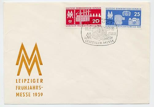 DDR FDC MiNr. 678/79 LFM 1959