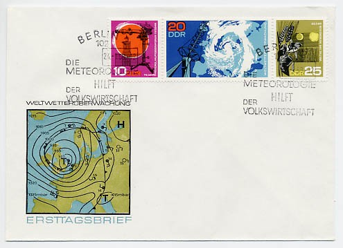 DDR FDC MiNr. 1343/45 Zdr. Meteorologie