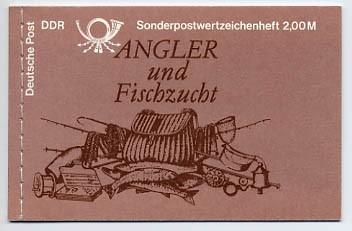 DDR MH 9v4 ** (v-Papier) Süßwasserfische