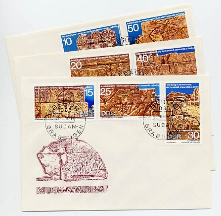DDR FDC MiNr. 1584/90 Archäolog. Forschung