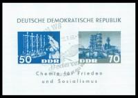 DDR Bl. 18 o MiNr. 950/51 Chemie