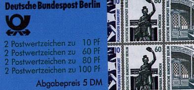 Berlin MH 15 ** Sehenswürdigkeiten, 1989