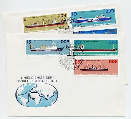 DDR FDC MiNr. 2709/14 Hochseeschiffe