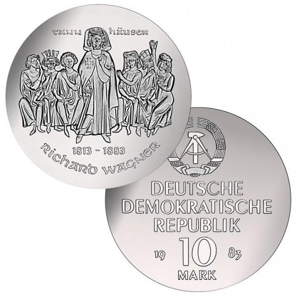 DDR Münze 1983, 10 M, st 100. Todestag Richard Wagner