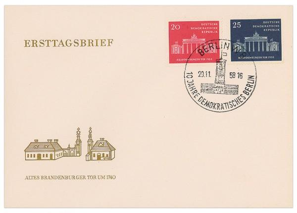 DDR FDC MiNr. 665/66 10 J. Magistrat Berlin