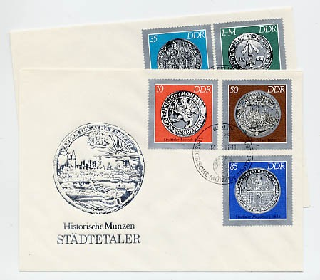 DDR FDC MiNr. 3040/44 Histor. Münzen