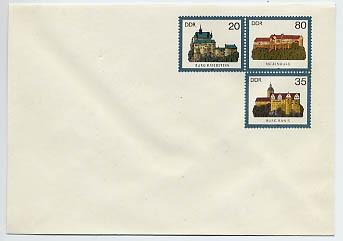 DDR Ganzsache U 1 * 1.35 Burgen 1984