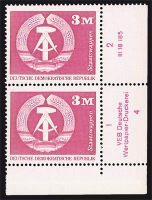 DDR MiNr. 1967 ** Eckrandst. mit DV Freimarken: Aufbau in der DDR