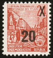 DDR Propagandafälschung MiNr. 7 ** gepr. Fünfjahrplan mit 20Pf-Aufdr. (wie MiNr. 439)