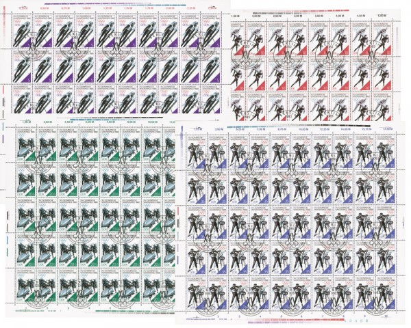DDR Bogensatz MiNr. 3140-3143 o Olympische Winterspiele 1988, Calgary