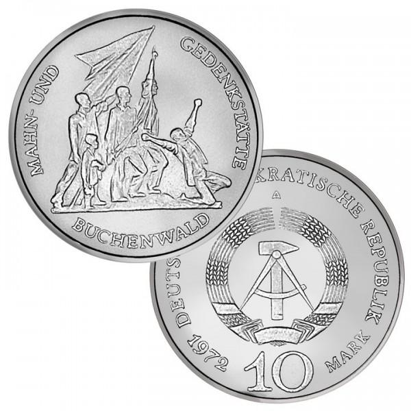 DDR Münze 1972, 10 M, vz Mahnmal Buchenwald