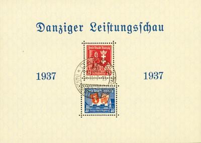 "Freie Stadt Danzig Bl. 3 MiNr. 274/75 o (SoSt.) SoSt. Block 3 ""Danz.Leistungsschau"""