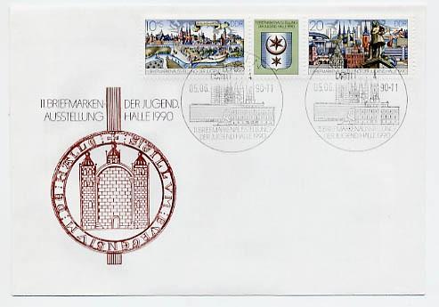 DDR FDC MiNr. 3338/39 Zdr. Briefm. -Ausst. d. Jugend, Halle