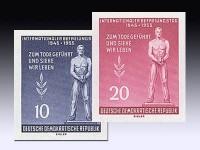 DDR Marken aus Bl. 11 MiNr. 459/60B ** geschn.