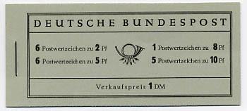 BRD MH 3 ** Heuss, März 1956