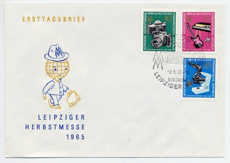 DDR FDC MiNr. 1130/32 LHM 1965