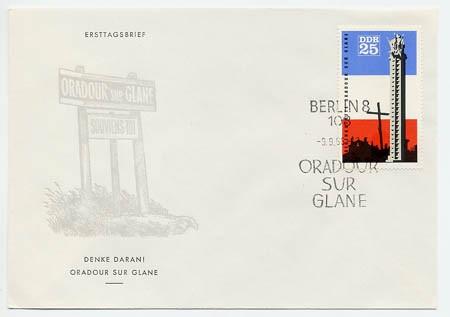 DDR FDC MiNr. 1206 Gedenkst. Oradour