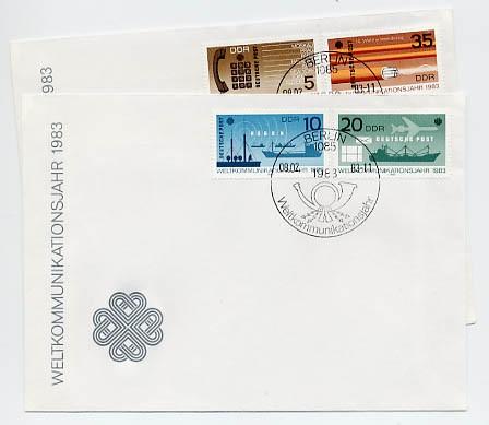DDR FDC MiNr. 2770/73 Weltkommunikationsjahr