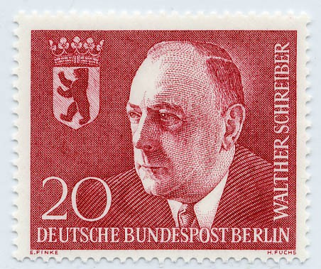 Berlin MiNr. 192 ** 2. Todestag von Dr. Walther Schreiber