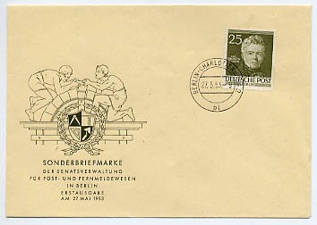 Berlin FDC Mi-Nr. 98 Männer aus der Geschichte Berlins (I)