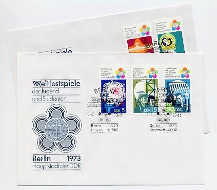 DDR FDC MiNr. 1862/66 Weltfestspiele der Jugend