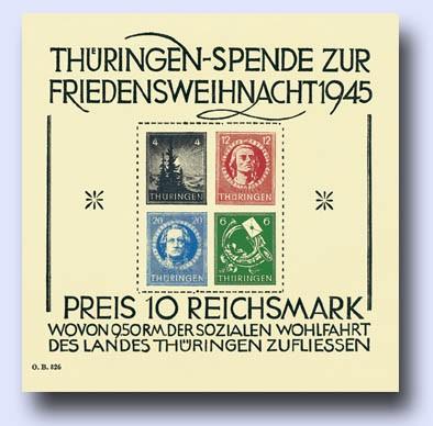 SBZ Thür. MiNr. Block 2t ** mit Foto-Attest Friedensweihnacht 1945; Soziale Wohlfahrt