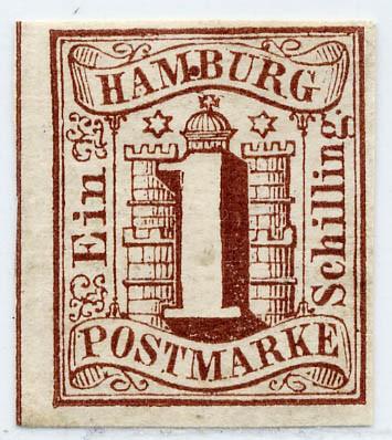 Hamburg MiNr. 2I * 1 Schilling / braun / Abart I