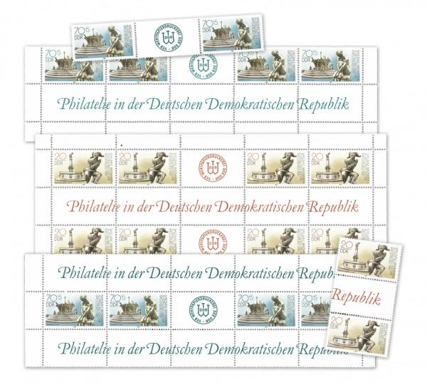 DDR MiNr. 3265/66 ** 16 Kombinationen aus MHB Nat. Briefmarkenausstellung Magdeburg
