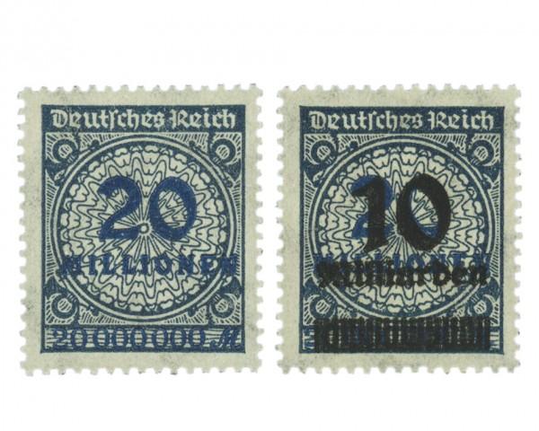 Dt. Reich MiNr. 319 Wb + 335 Wb ** gepr.