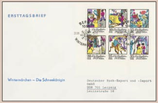 DDR FDC Klbg. MiNr. 1801/06 Schneekönigin